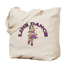 Line Dance Cowgirl Tote Bag
