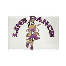 Line Dance Cowgirl Rectangle Magnet (10 pack)