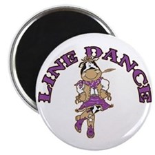 "Line Dance Cowgirl 2.25"" Magnet (10 pack)"