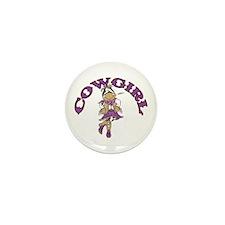 Cowgirl Mini Button (10 pack)