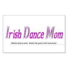 Irish Dance Mom - Rectangle Decal
