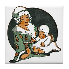 1910's Mother and Baby Tile Coaster