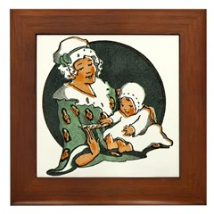 1910's Mother and Baby Framed Tile