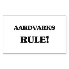 Aardvarks Rule Rectangle Decal