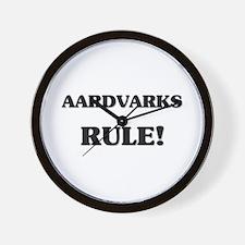 Aardvarks Rule Wall Clock