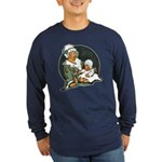 1910's Mother and Baby Long Sleeve Dark T-Shirt