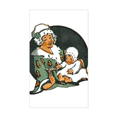 1910's Mother and Baby Rectangle Decal