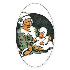 1910's Mother and Baby Oval Decal