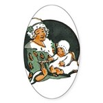 1910's Mother and Baby Oval Sticker