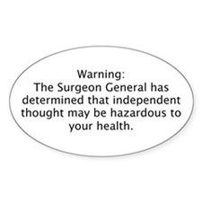 Surgeon Generals Warning - In Oval Decal