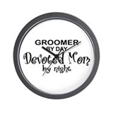Dog grooming Wall Clocks