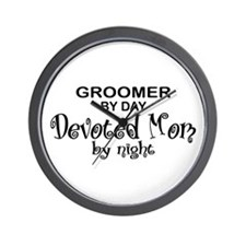 Groomer Devoted Mom Wall Clock
