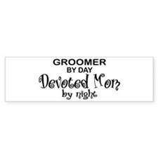 Groomer Devoted Mom Bumper Bumper Sticker