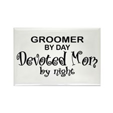 Groomer Devoted Mom Rectangle Magnet
