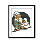 1910's Mother and Baby Framed Panel Print