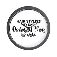 Hair Stylist Devoted Mom Wall Clock