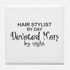 Hair Stylist Devoted Mom Tile Coaster