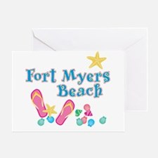 Ft. Myers Beach Flip Flops - Greeting Card