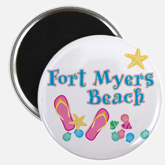 Ft. Myers Beach Flip Flops - Magnet
