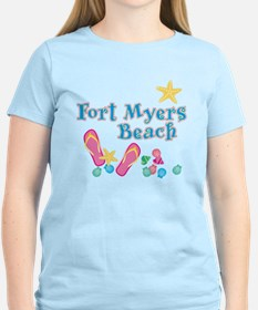 Ft. Myers Beach Flip Flops - T-Shirt