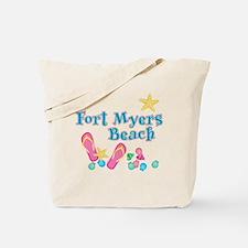 Ft. Myers Beach Flip Flops - Tote or Beach Bag