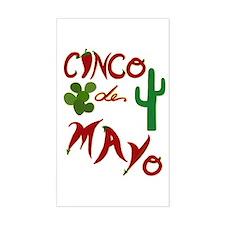 Cinco de Mayo Cacti Rectangle Decal
