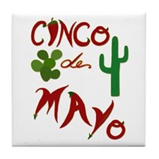 Cinco de Mayo Cacti Tile Coaster