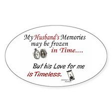 Timeless 1 Alzheimer's (Husband) Oval Decal