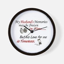 Timeless 1 Alzheimer's (Husband) Wall Clock