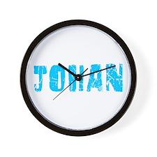 Johan Faded (Blue) Wall Clock