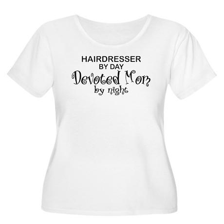 Hairdresser Devoted Mom Women's Plus Size Scoop Ne