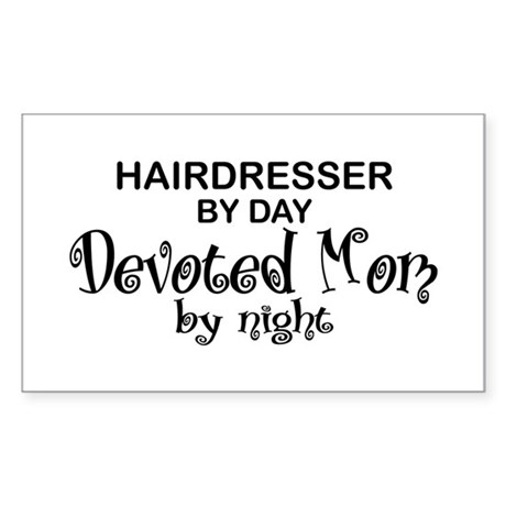 Hairdresser Devoted Mom Rectangle Sticker