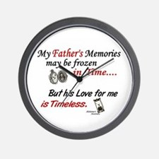 Timeless 1 Alzheimer's (Father) Wall Clock