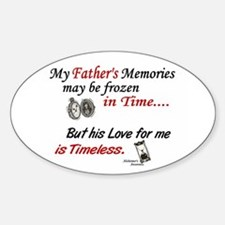 Timeless 1 Alzheimer's (Father) Oval Decal