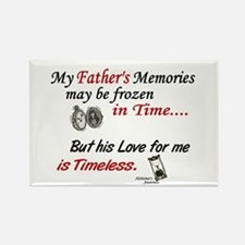 Timeless 1 Alzheimer's (Father) Rectangle Magnet