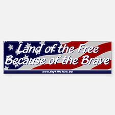 Land of the Free Bumper Bumper Sticker