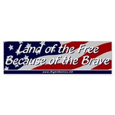 Land of the Free Car Sticker