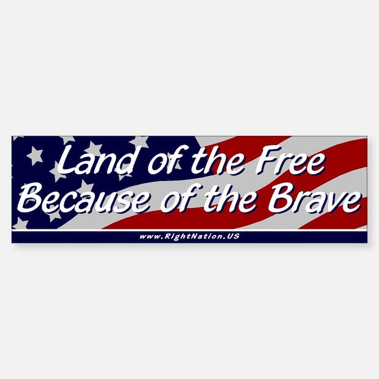 Land of the Free Sticker (Bumper)