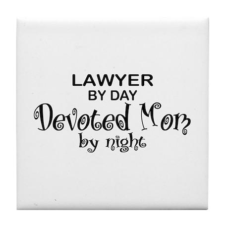 Lawyer Devoted Mom Tile Coaster