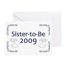 Sister-to-Be 2009 Greeting Cards (Pk of 20)