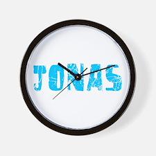 Jonas Faded (Blue) Wall Clock