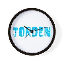 Jorden Faded (Blue) Wall Clock