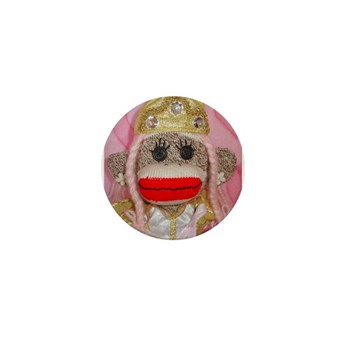 Sock Monkey for the Cure Pink Mini Button (10 pk)