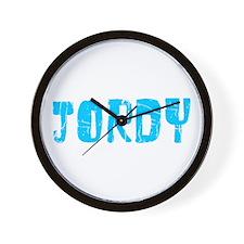 Jordy Faded (Blue) Wall Clock