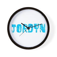 Jordyn Faded (Blue) Wall Clock