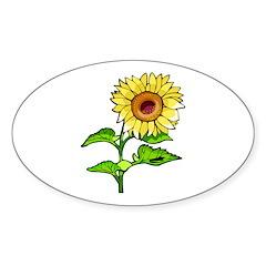 Sunflowers Sticker (Oval 10 pk)
