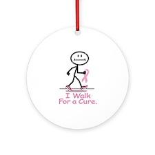 Breast Cancer Walk Ornament (Round)
