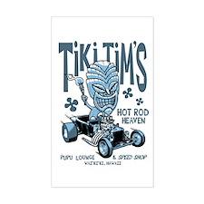 Tiki Tim's Rectangle Decal