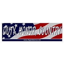 Duty, Honor, Country Bumper Bumper Sticker