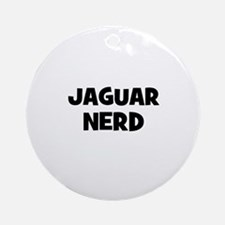 Jaguar nerd Ornament (Round)